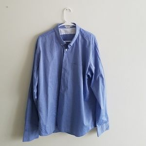 J. Lindeberg Blue Dress Shirt